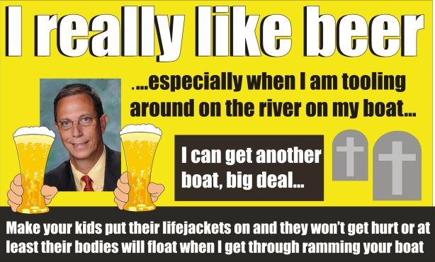 Del Don Dwyer boat busting boozing lawmaker