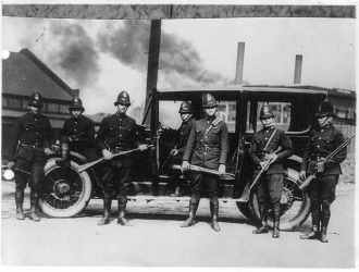 Pennsylvania State Troopers Riot Squad in 1919