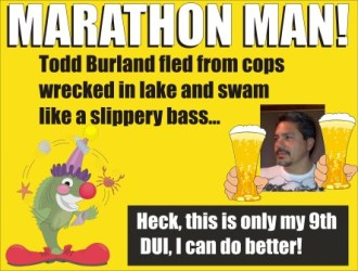 Todd Burland gets 9th DUI