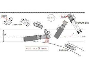 Alabama State Police diagram of deputy crash