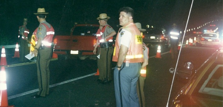 Sobriety checkpoint operated by Maryland State Troopers and St. Mary's County Sheriff