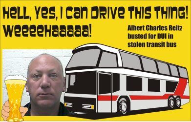 Albert Charles Reitz charged with DUI in stolen bus Johnson City Tenn