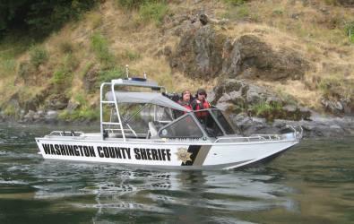 Washington County Ore Sheriff boat
