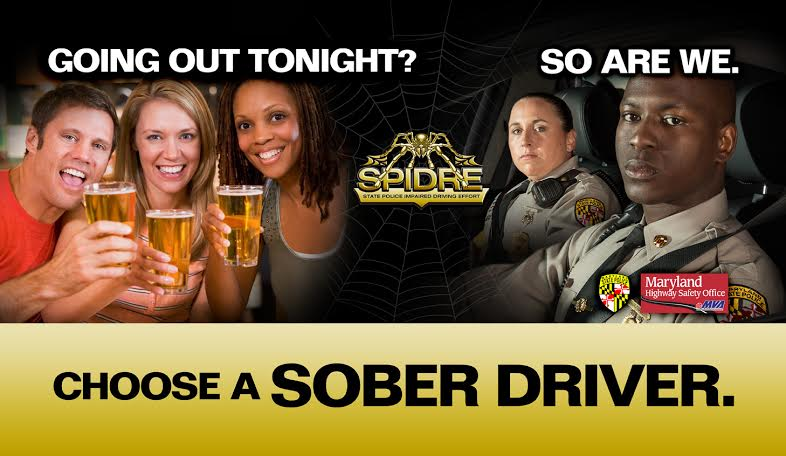 Maryland: State Police DUI arrests for July 2016; cabs cheap, lawyers pricey