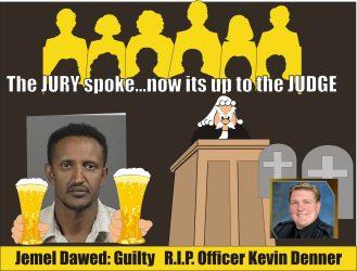 Jemel Dawed guilty of DUI death of Officer Kevin Denner