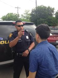 San Antonio Police First impaired driver of the night taken off the streets at Tesla and Culebra. 041815