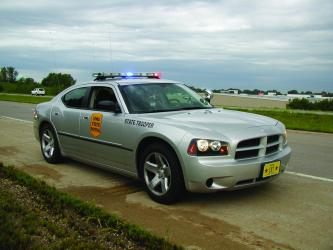 Iowa State Patrol trooper cruiser