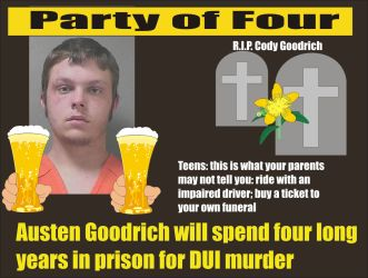 Austen Goodrich four years in prison DUI fatal Orlando Fl 101715
