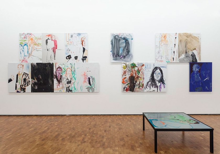 Installation view HERE AND NOW at Museum Ludwig: Reena Spaulings. HER AND NO, Museum Ludwig, Cologne 2017 © Courtesy of the artist, Photo: Rheinisches Bildarchiv Köln, Cologne/ Britta Schlier