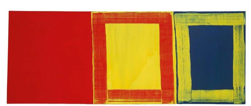 The first red yellow and blue , 1975 © Mary Heilmann