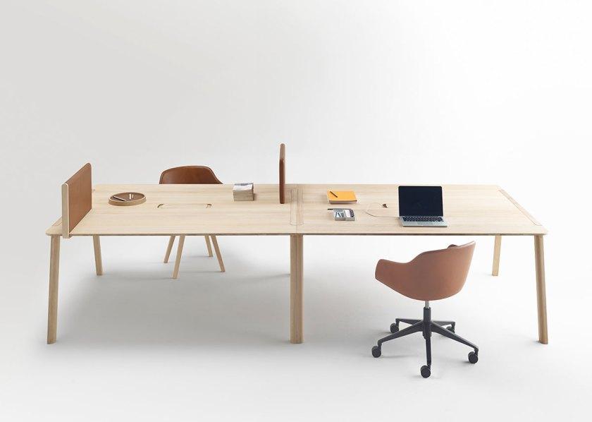 Mesa de trabajo Heldu, diseñada por Iratzoki & Lizaso. Imagen cortesía de © Alki