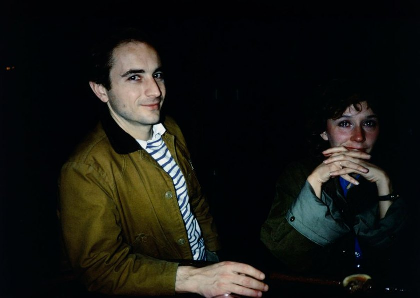 David and Butch Crying at Tin Pan Alley, New York City, 1981© Nan Goldin