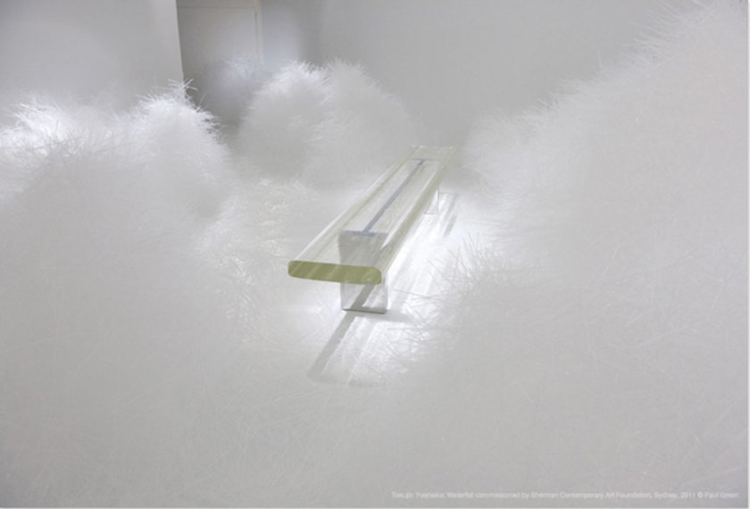 Waterfall Made of 300,000 Plastic Straws by Tokujin Yoshioka