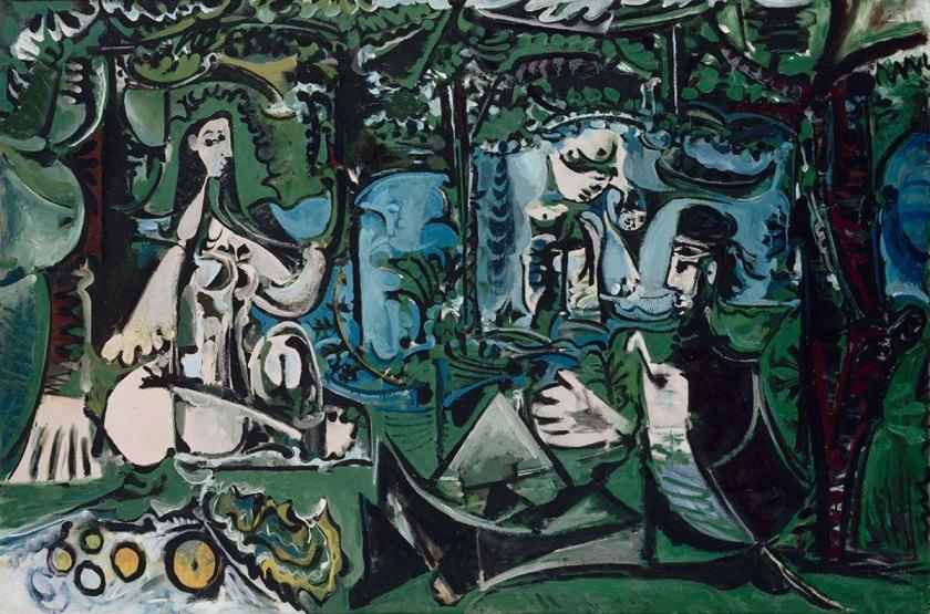 Pablo Picasso. 'Almuerzo sobre la hierba, según Manet Vauvenargues', 1960. Musée national Picasso, Paris. © RMN-Grand Palais / Jean-Gilles Berizzi. © Sucesión Pablo Picasso, VEGAP, Madrid, 2017.