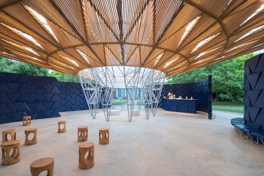 Pabellón de la Serpentine Gallery, Londres, Reino Unido (2017)© Iwan Baan