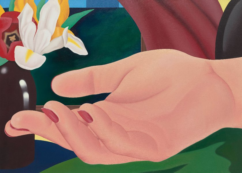 Tom Wesselmann Gina's Hand, 1972-82 Huile sur toile / oil on canvas 149,86 x 208,28 cm / 59 x 82 inches © The Estate of Tom Wesselmann/ Licensed by VAGA, New York