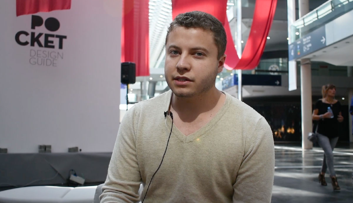 Germán Muñoz responde al cuestionario de POCKET DESIGN GUIDE durante la Feria Hábitat Valencia el pasado mes de septiembre.
