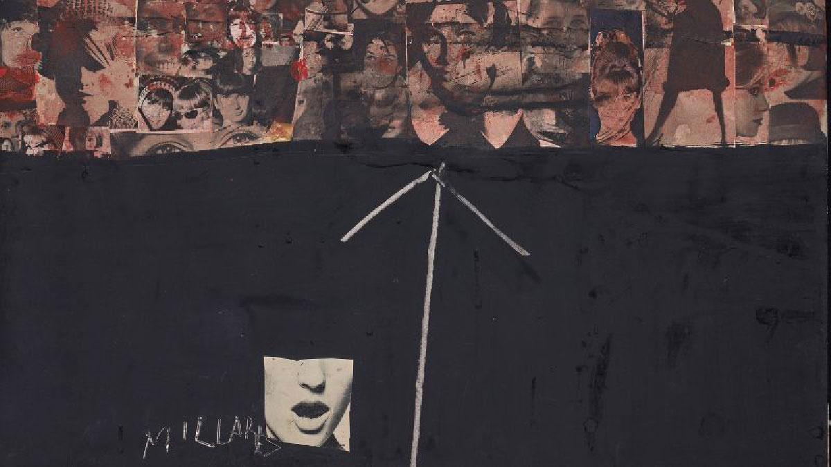 MANOLO MILLARES Sin título, 1964. 66 x 50 cm. Monotipo sobre papel adherido a tablex. Colección particular.