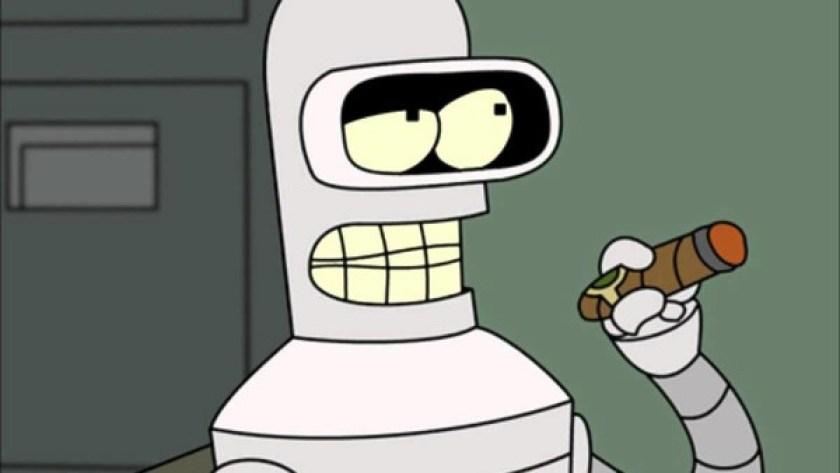 """""""Futurama"""" creada por Matt Groening, donde vimoa a Bender como símbolo de lo que los robots podrían representar en la sociedad."""