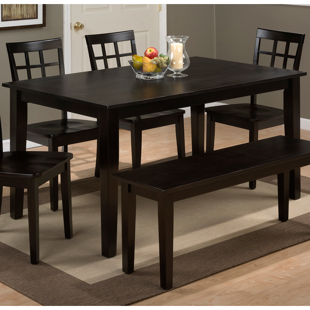 Jofran 60 espresso kitchen table set Simplicity Espresso Wooden Rectangle Dining Table