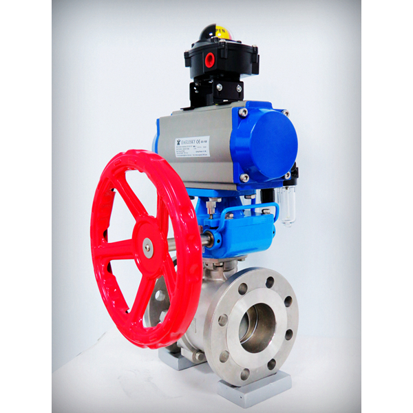 Rotary-automatic-pneumatic-actuator-limit-switch-box-hand-wheel-stainless-steel-ball-valve-Namur-solenoid-valve-filter-2