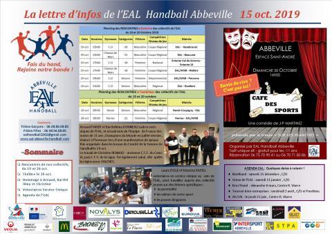 La Lettre d'infos EAL Handball Abbeville _15oct 2019