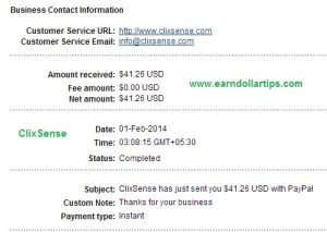 Clixsense payment proof