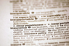 dictionary definition of insurance