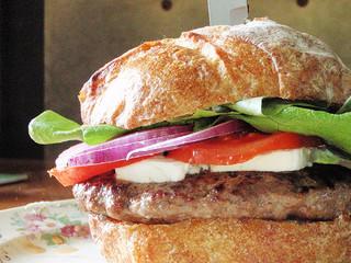 delicious looking hamburger
