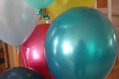 colorful helium balloons