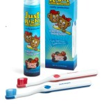toothbrushes and toothpaste from Just Right toothpaste kit