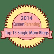 badge for 2014 top ten single mom blogs list