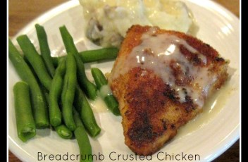 Breadcrumb Crusted Chicken
