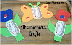 Cute Thermometer Crafts:  Attach a suction cup & hang them on a window!