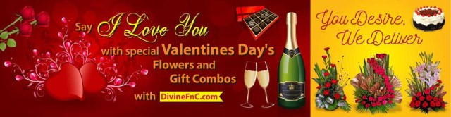 Divine Flower N Cakes Valentines day gift