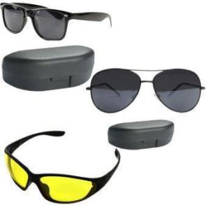 Combo of Night Vision Wayfarer Aviator Sunglass