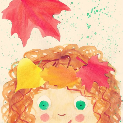 All cute curls and warm fall colors!