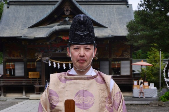 Priest of Chichibu shinto shrine in Saitama.