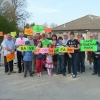 Local residents in countryside protest march