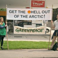 Greenpeace in Chandler's Ford garage protest