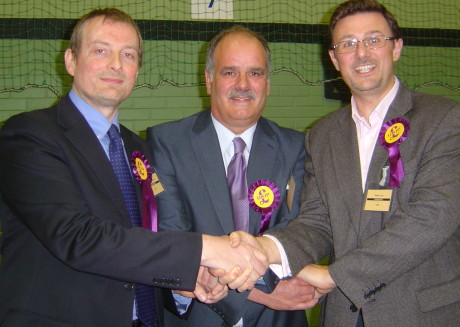 Eastleigh's new Ukip County Councillors L-R Chris Greenwood, Andy Moore and Martin Lyon ©eastleighnews