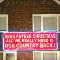 Police probe Ukip cabbie's Santa sign:Updated
