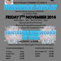 Fireworks Night, Nightingale Primary School, Eastleigh