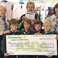 Local scouts take on weekly shop at Asda