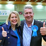 New MP Mims Davies and Newly elected Councillor Jerry Hall celebrate