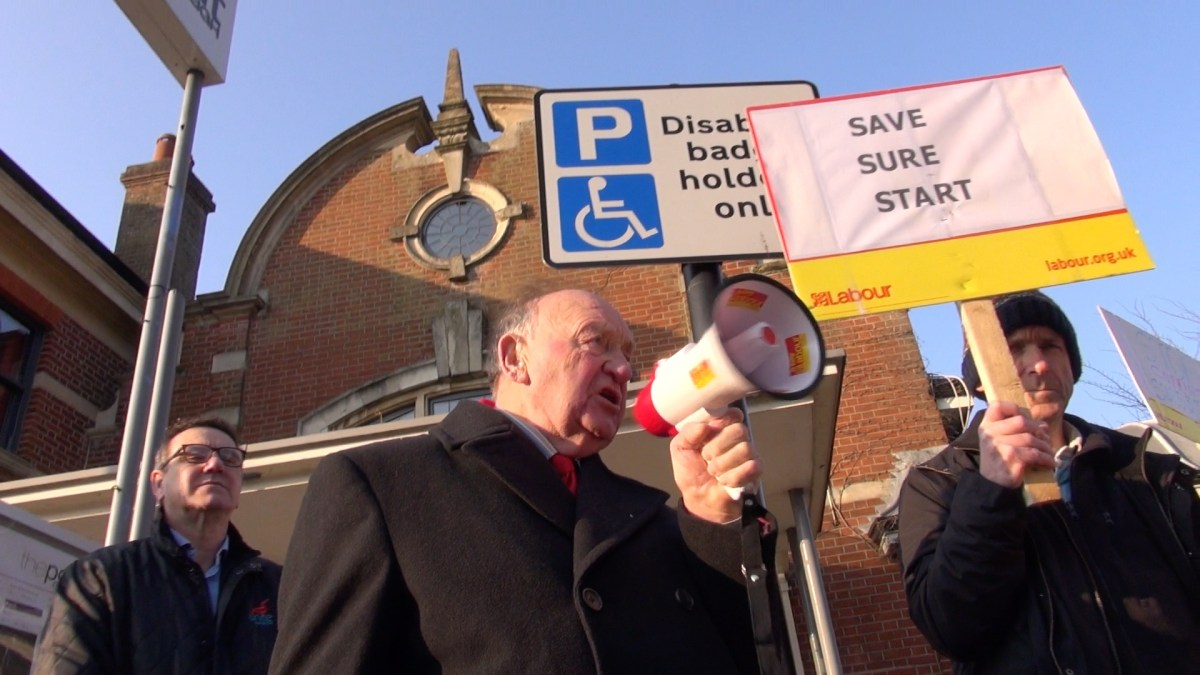 Save our Sure Start protest comes to Eastleigh