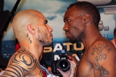 01 Cotto vs Trout WI IMG 2874 Weigh In results: Miguel Cotto 153.6 vs. Austin Trout 154