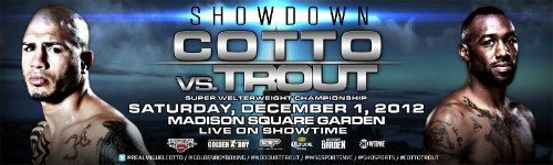 Cotto vs. Trout press tour scheduled for New York & Puerto Rico next week