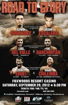 Rodriguez Escalera, Del Valle Darchinyan, Erdei Chilemba on September 29th on HBO