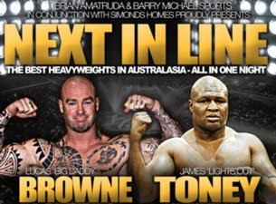 James Toney vs Lucas Browne in Australia on April 28